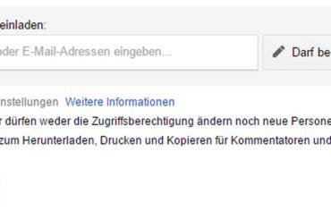 Google Drive: Dateien mit Download-, Druck- und Kopierschutz belegen.