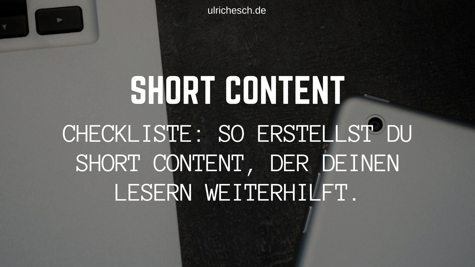 short-content-checkliste