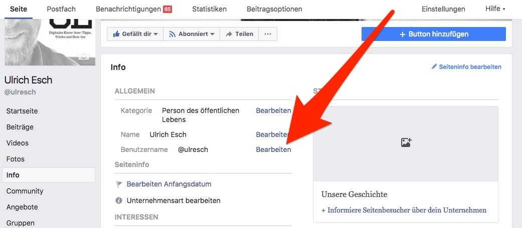 facebook-benutzernamen-aendern