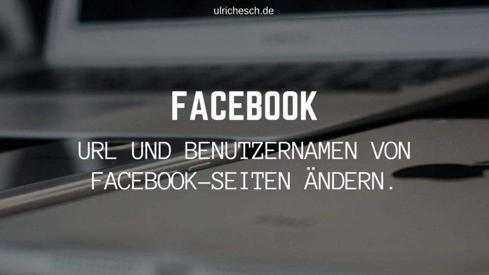 facebook-url-aendern