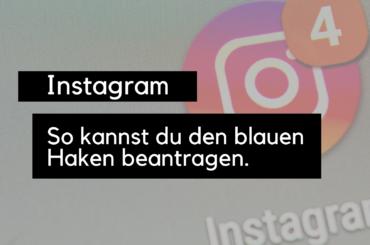 instagram-blauer haken