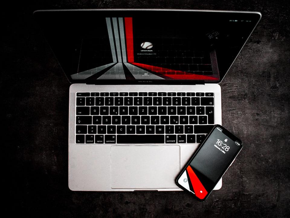 MacBook-smartphone
