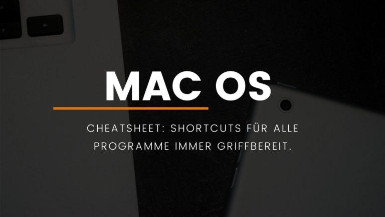 macOS: Shortcuts mit CheatSheet immer griffbereit.